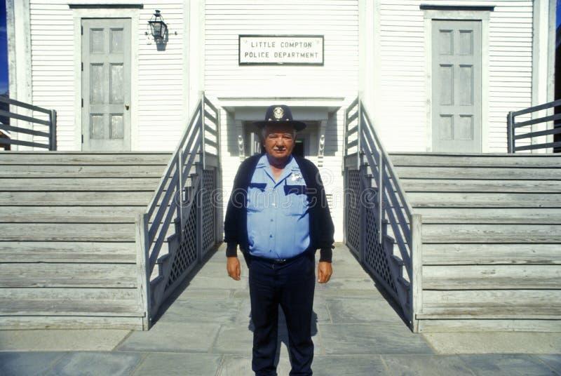 Przy komenda policji komptonowski komendant policji zdjęcia stock