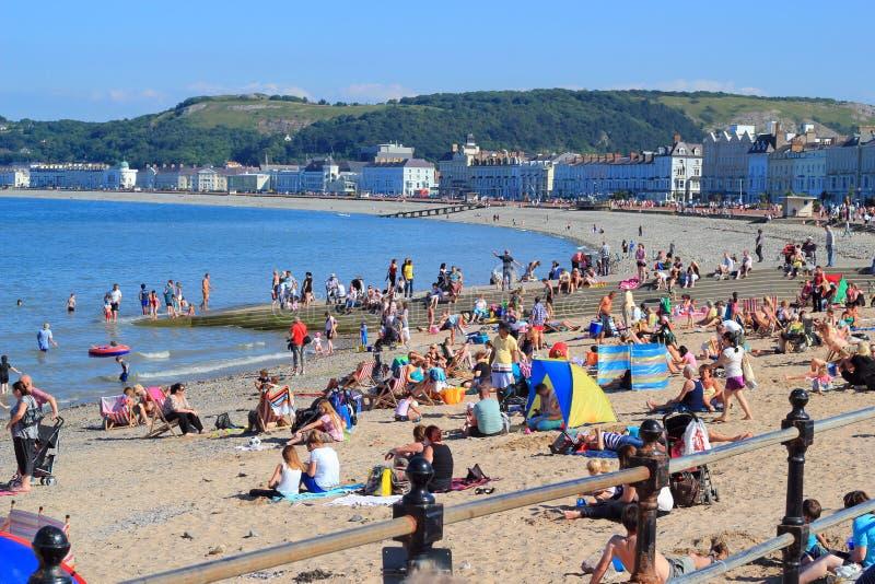 Przy Llandudno plaża, Walia UK. obraz stock
