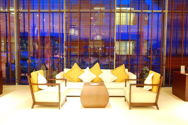 Przy lobby relaks krzesła fotografia royalty free