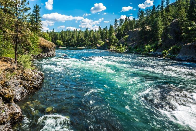 Przy nadrzecznym pucharu i miotacza stanu parkiem w Spokane Washington obrazy stock