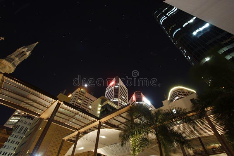 Przy noc Brisbane miasto zdjęcie royalty free