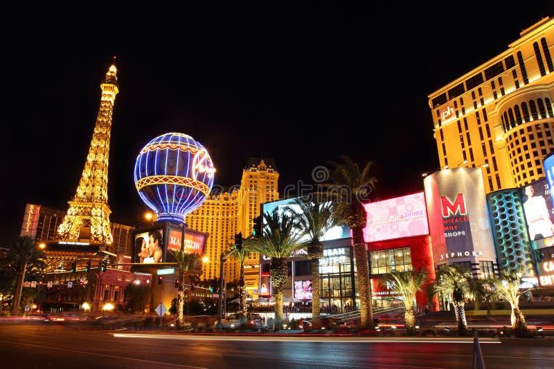 Przy Noc Las Vegas Pasek fotografia stock