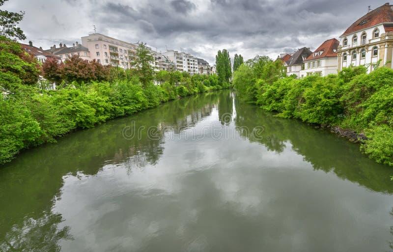 Przy obrze?ami Strasburg, Francja zdjęcia royalty free