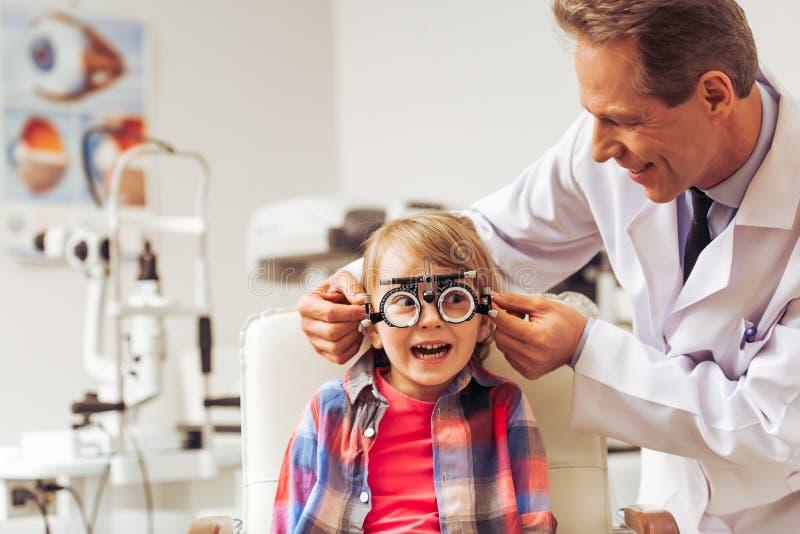 Przy oftalmologiem zdjęcia royalty free