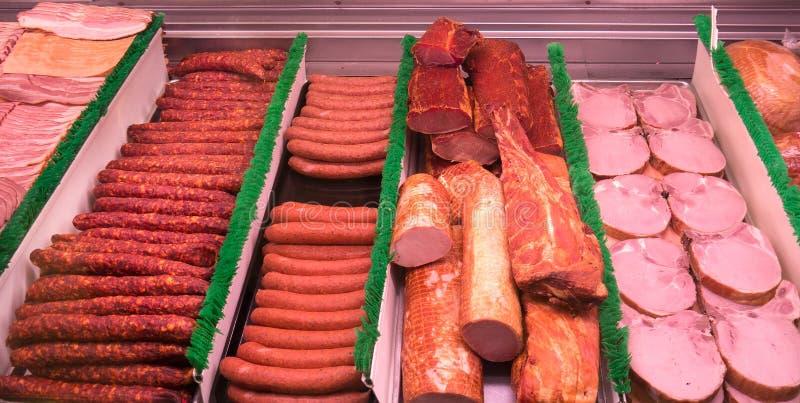 przy pokrojony Mięso delikatesy odpierający zdjęcie royalty free