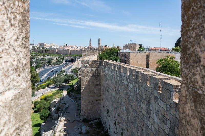 Przy Ramparts spacerem w Jerozolima obrazy royalty free