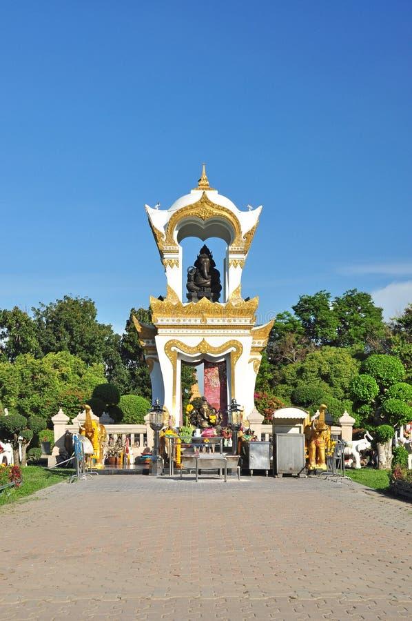 Przy Sanam Pałac Ganesh pomnik Chandra, Tajlandia zdjęcia royalty free