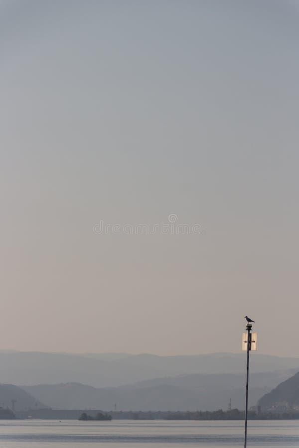 Przy straży przybrzeżnej stacją, Danube rzeka, Kladovo, Serbia obraz stock