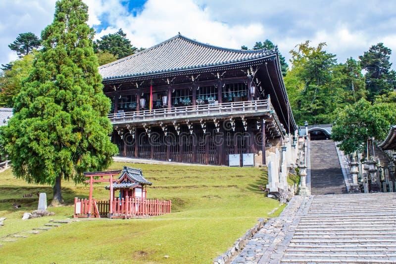 , przy TÅ  Dai, świątynia w Nara, Japonia zdjęcie stock