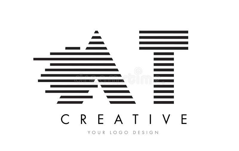PRZY T zebry listu loga projektem z Czarny I Biały lampasami ilustracji