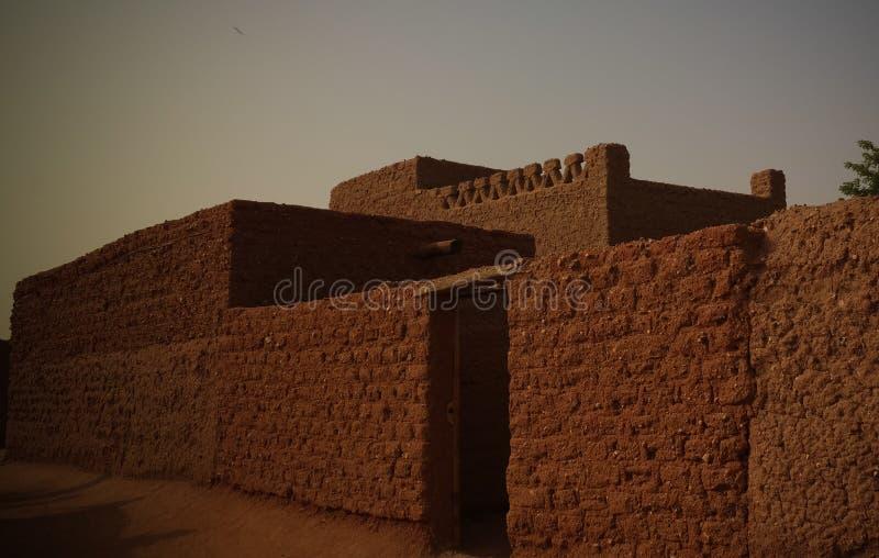 Przy ulicami Agadez stary miasto, Niger obraz royalty free