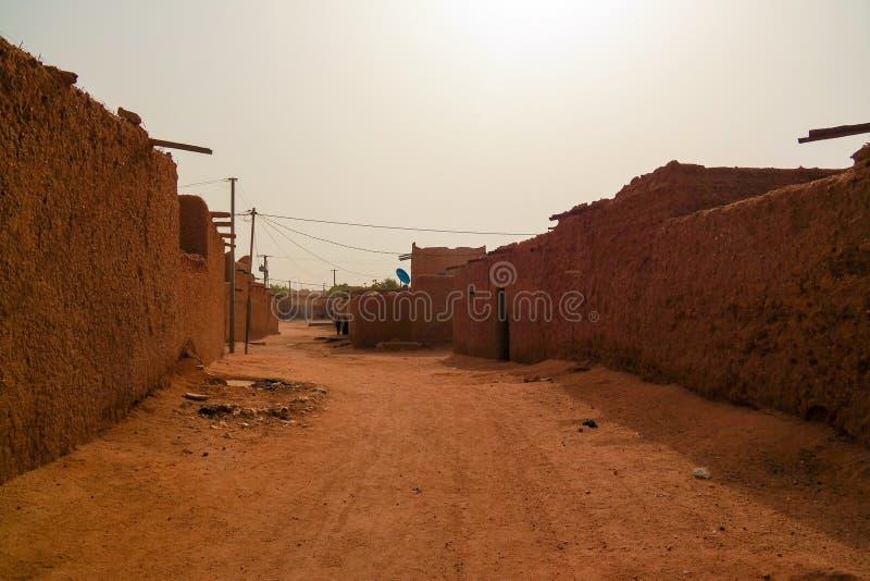 Przy ulicami Agadez stary miasto, Niger zdjęcie stock