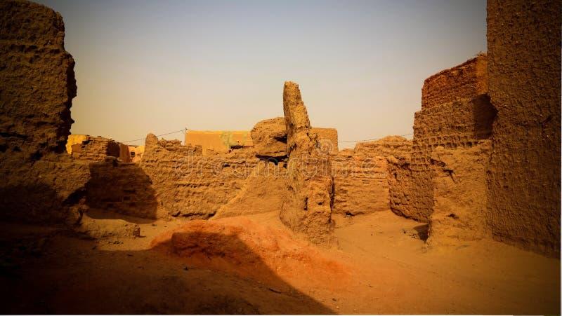 Przy ulicami Agadez stary miasto, Niger zdjęcia royalty free