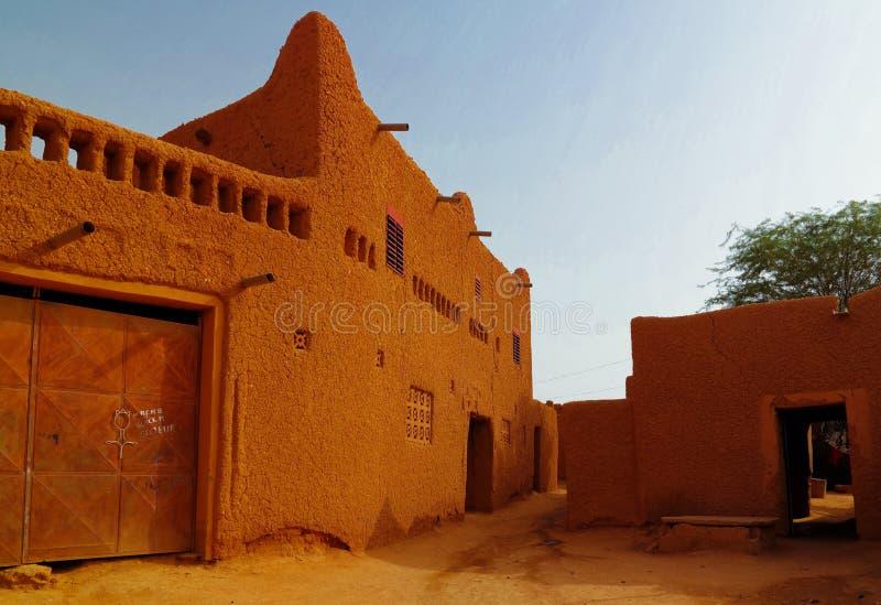 Przy ulicami Agadez stary miasto, Niger fotografia stock
