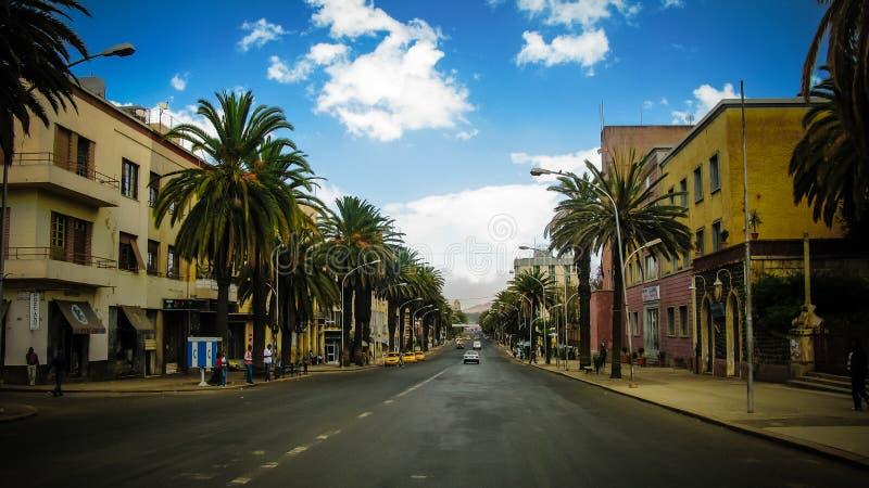 Przy ulicami Asmara, kapita? Erytrea zdjęcia royalty free