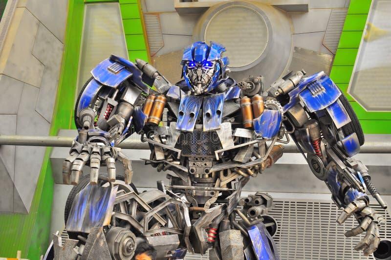 Przy Universal Studio transformatorowy Autobot Singapur obraz royalty free