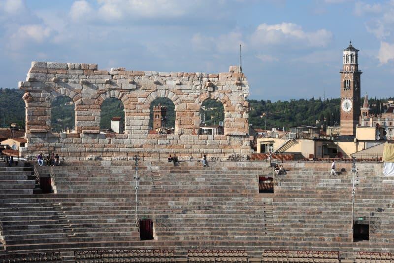 Przy Verona romańska Arena zdjęcia stock
