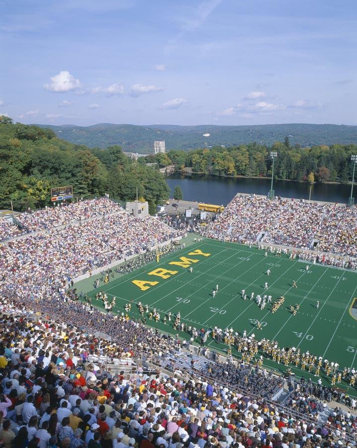 Przy West Point Michael Stadium, Wojsko v Lafayette, Nowy Jork fotografia stock