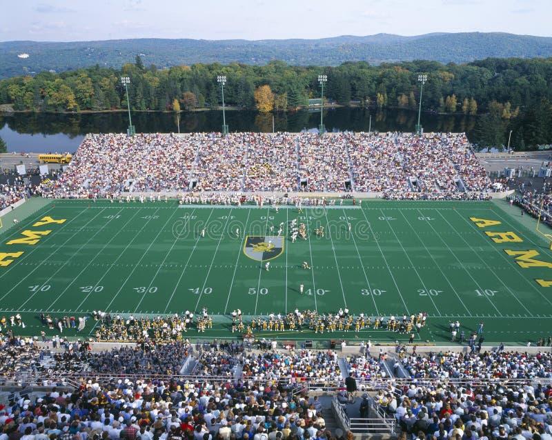 Przy West Point Michael Stadium, Wojsko v Lafayette, Nowy Jork obrazy royalty free
