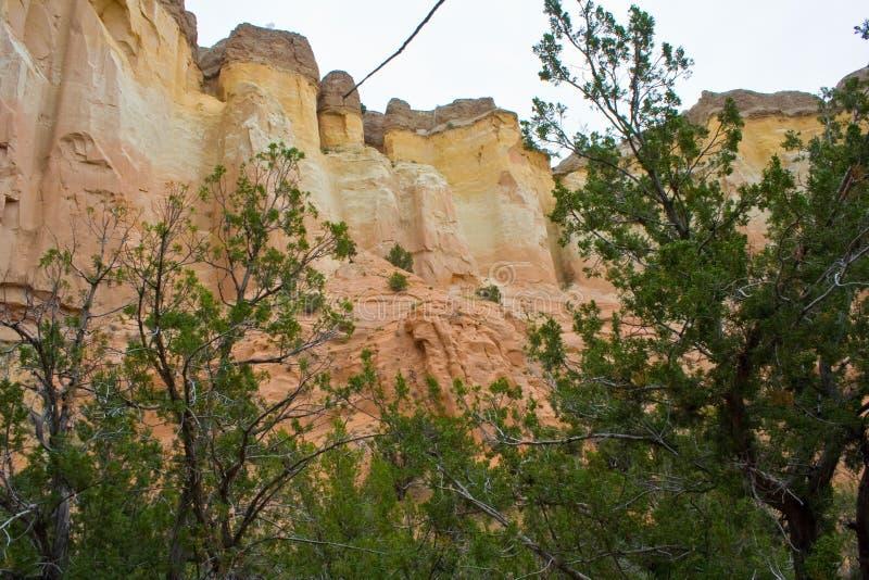Przy widokiem Echowy amfiteatr w Carson lesie państwowym w Nowym - Mexico obrazy stock