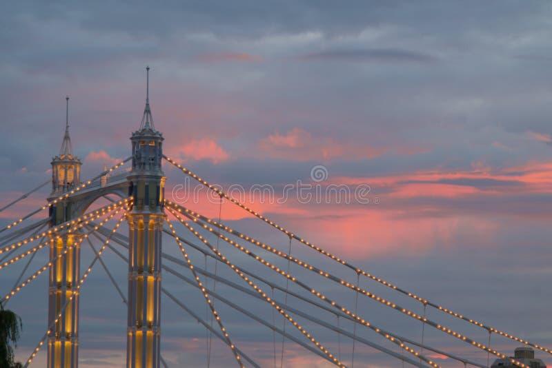 Przy zmierzchem Albert most zdjęcia royalty free