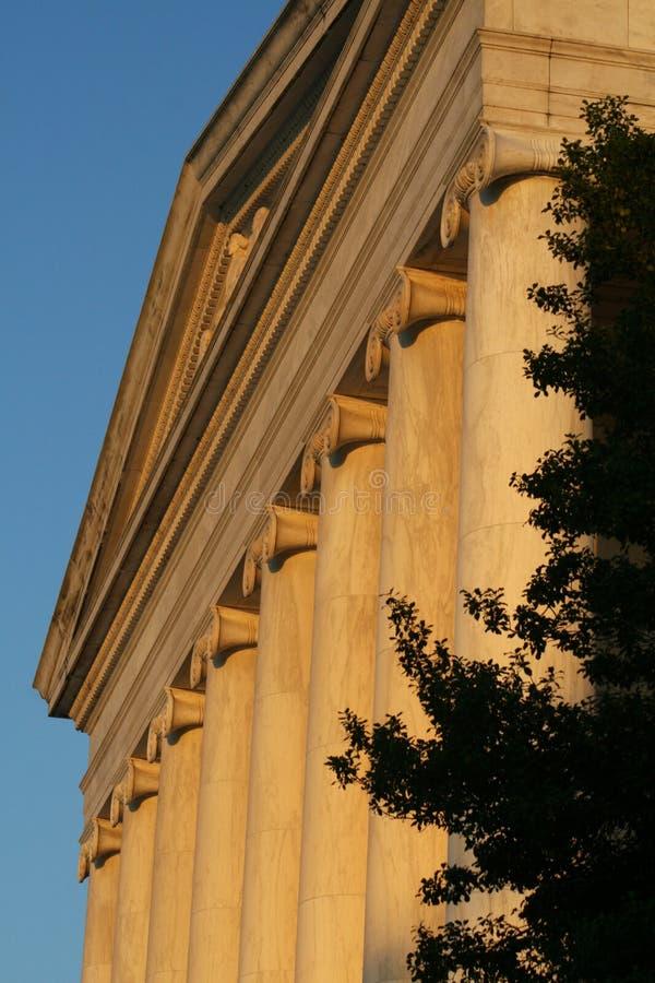 Przy zmierzchem Jefferson Pomnik zdjęcie royalty free