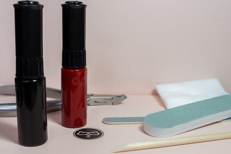 Przybija sztuk akcesoria życie z manicure'em, wciąż ilustracja wektor