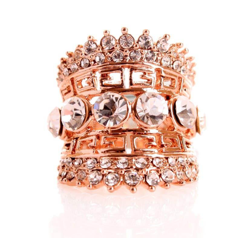 przybranie biżuteria złota odosobniona zdjęcie stock