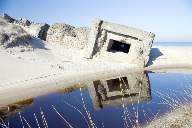 przybrzeżne stara wojskowa bunkra zdjęcia stock
