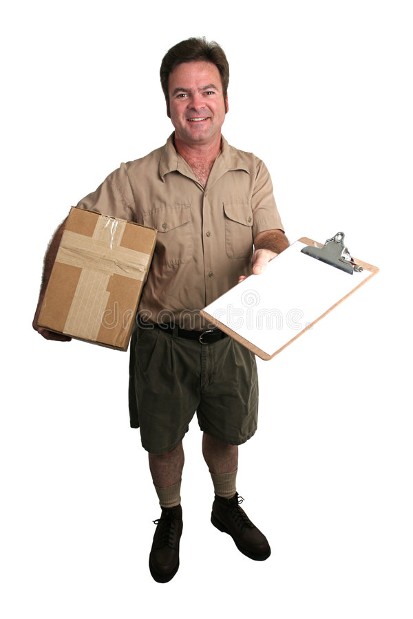 przybył pakiet zdjęcie stock