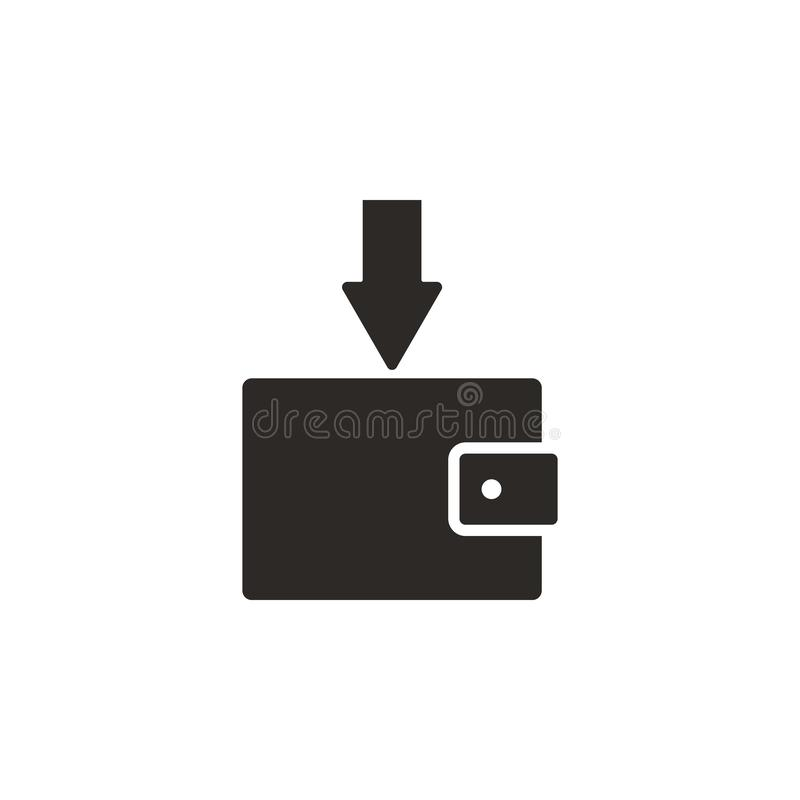 Przybywający, pieniądze, pensyjna wektorowa ikona Prosta element ilustracja od UI poj?cia Przybywający, pieniądze, pensyjna wekto ilustracji