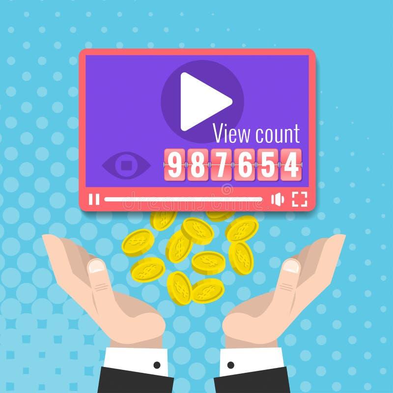 Przychody na wideo miejscach royalty ilustracja