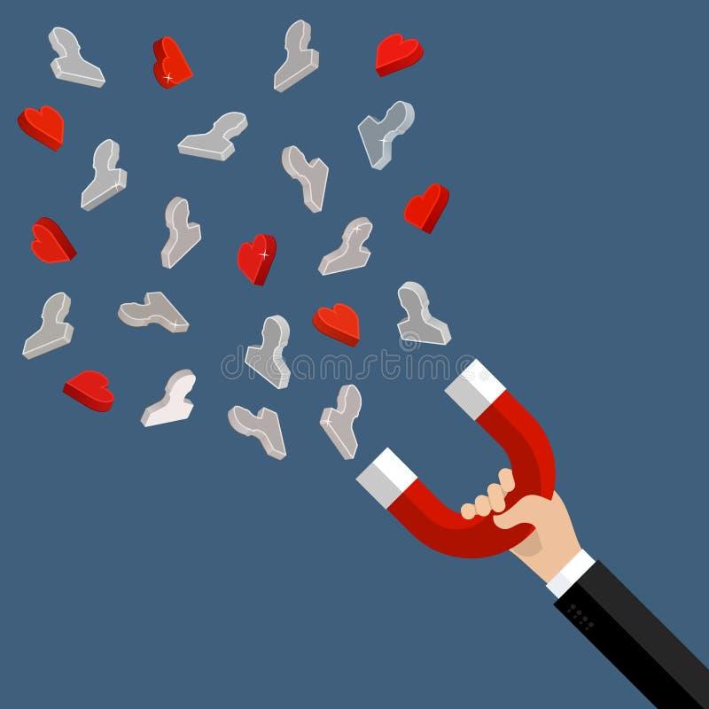 Przyciągać klientów i klientów biznes royalty ilustracja
