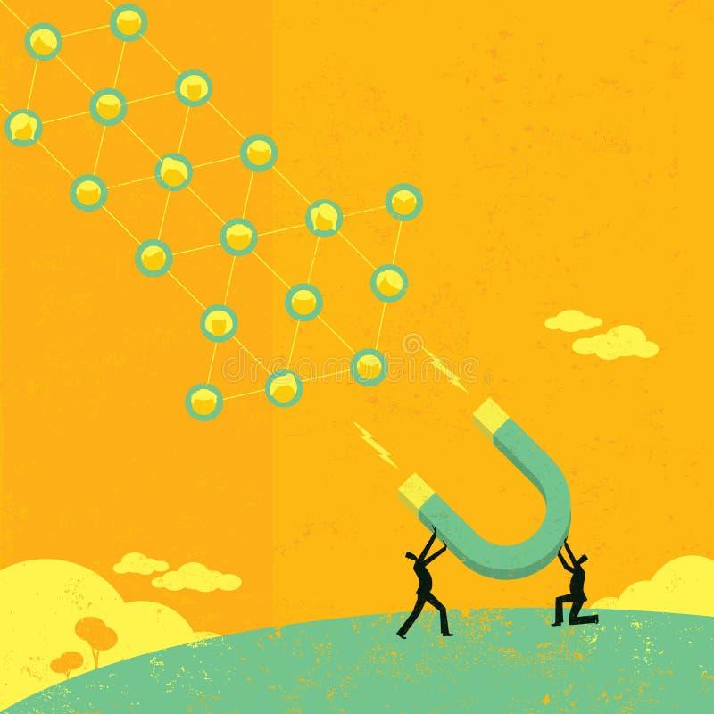 Przyciągać Ogólnospołeczne sieci royalty ilustracja