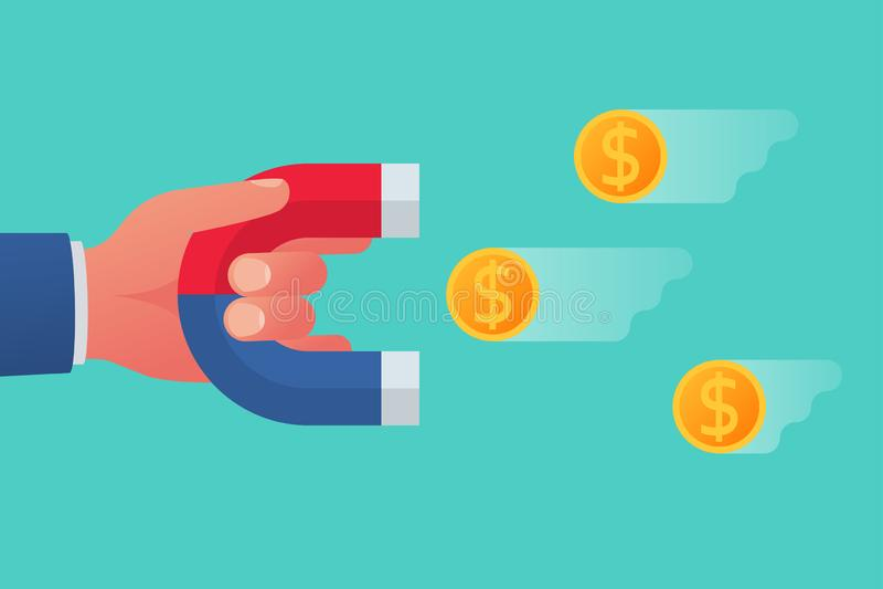 Przyciągać pieniądze pojęcie royalty ilustracja