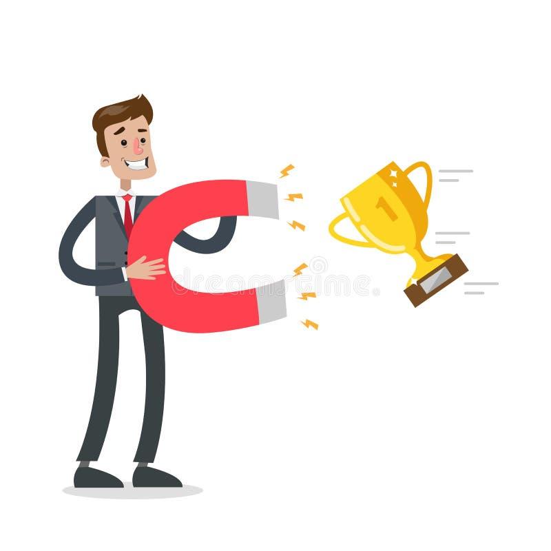 Przyciągać złotego trofeum ilustracji