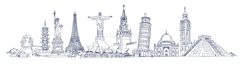 Przyciągania świat royalty ilustracja