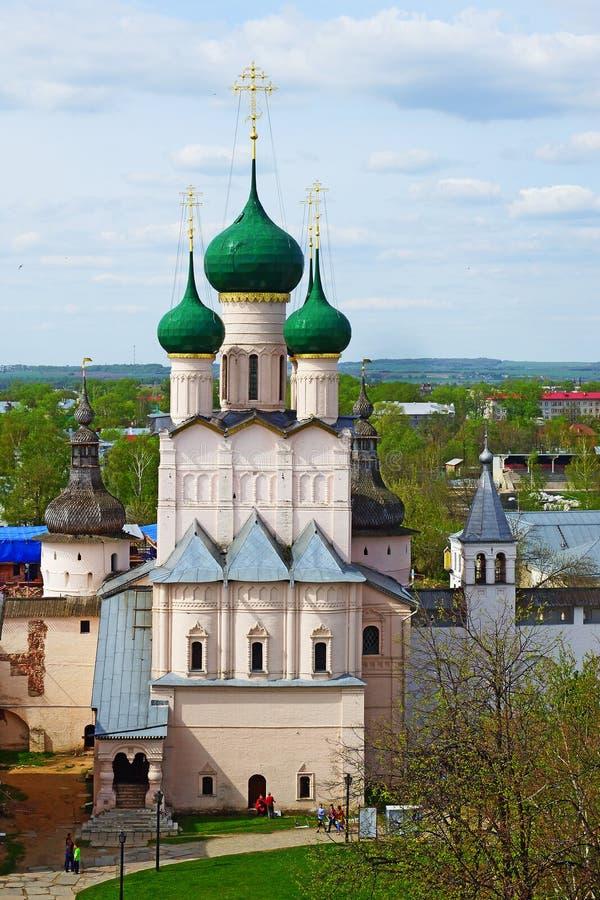 Przyciągania Rostov Kremlin, Rosja obrazy royalty free