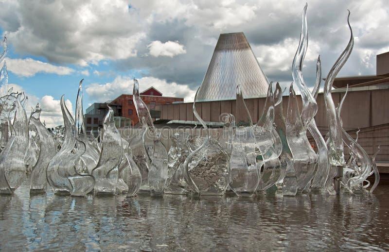 przyciągania szklany muzealny Listopad Tacoma wa zdjęcie stock