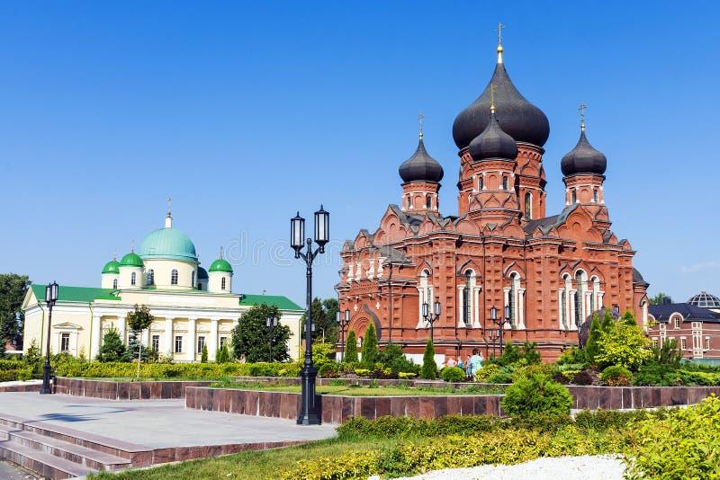 Przyciągania w głównym placu w Tula, Rosja zdjęcia stock