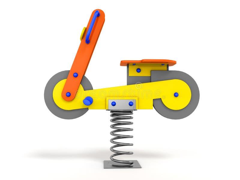 Przyciąganie gra dla dziecko wiosny żółtego błękita na lewym 3d r ilustracji