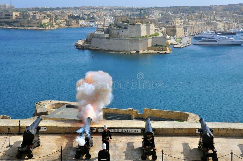 Przyciąganie liczba 1 Valletta obrazy royalty free
