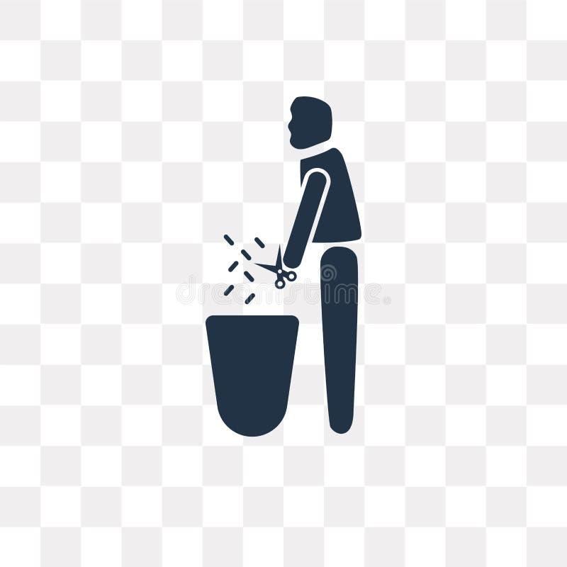 Przycina żywopłot wektorową ikonę odizolowywającą na przejrzystym tle, Prun royalty ilustracja