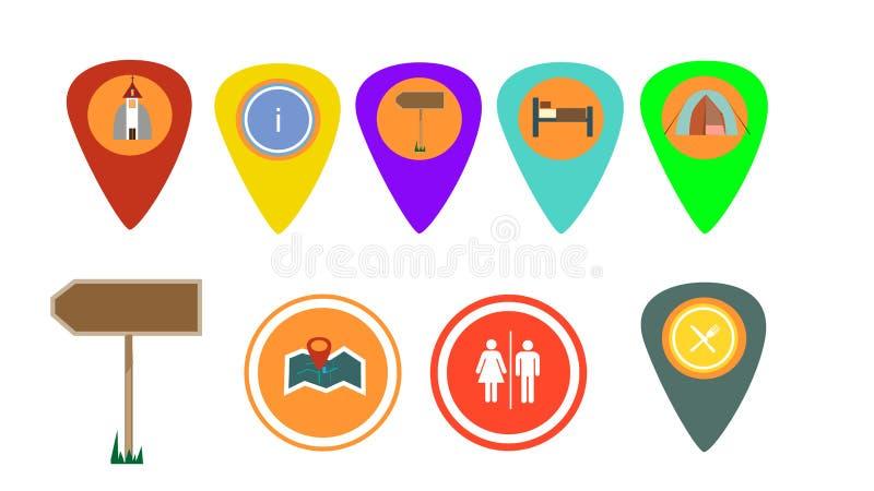 przycinający cyfrowych dróg ikon zawierać ilustracyjnego zadrapanie podróżuje obrazy stock