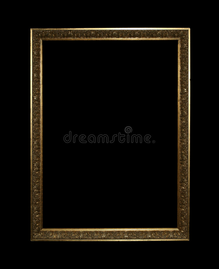 przycinanie złotą drogą ramowe zdjęcie royalty free
