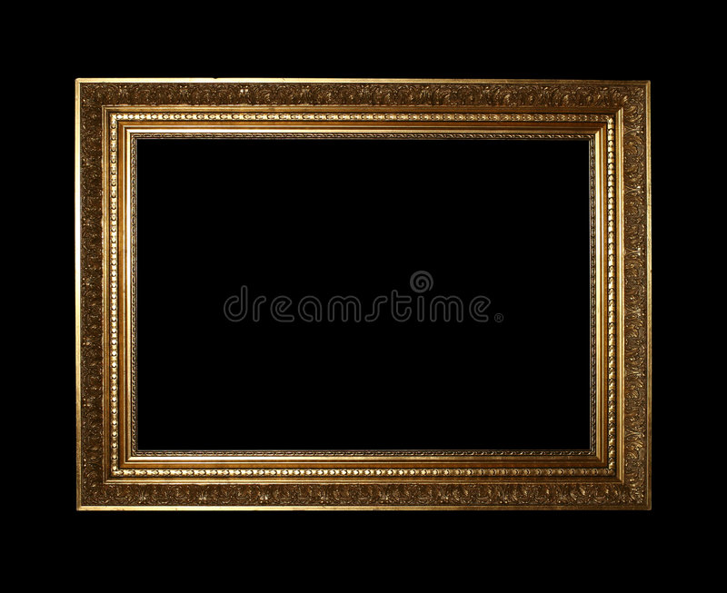 przycinanie złotą drogą ramowe zdjęcie stock