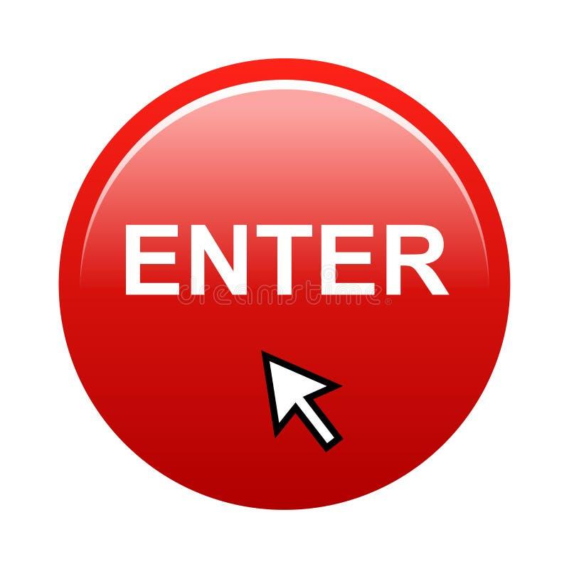 Przycisk Enter ilustracji