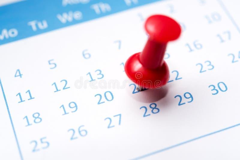 Przyczepiający na kalendarzu fotografia stock