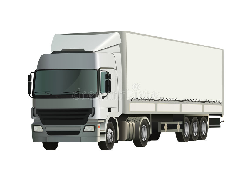przyczepy ciężarówka ilustracja wektor