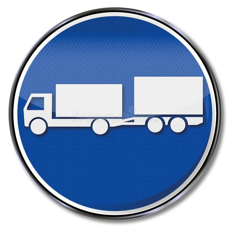 Przyczepy ciężarówka i mała dwuosiowa przyczepa ilustracja wektor
